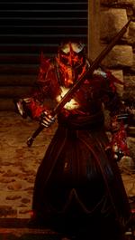 Красный храмовник долго употреблявший лириум