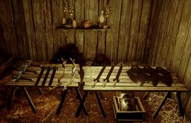 Магазин оружия и эскизов в оплоте Каменный Медведь