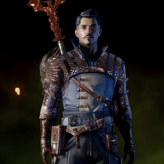 Dorian wearing Warden Battlemage Armor