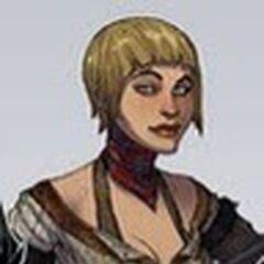 Frühe Concept-Art von Bethany mit blondem Haar.