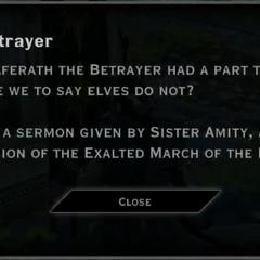 The Betrayer Landmark Text