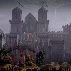 Die komplette Festung aus der Ferne