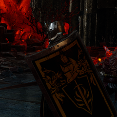Eine Wache der Roten Templer