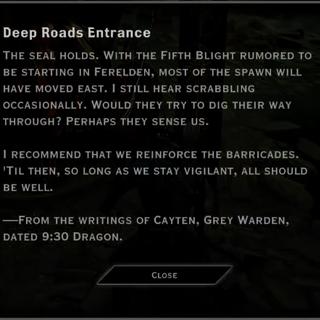 Deep Roads Entrance Landmark Text
