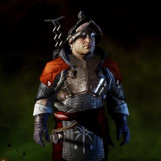 Späher-Rüstung der Inquisition an Varric