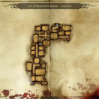Karte des Anwesens - Innenbereich