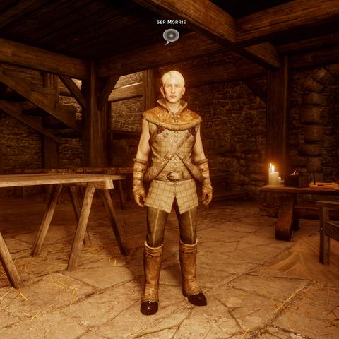 Ser Morris in seiner Amtsstube auf dem oberen Hof der Himmelsfeste