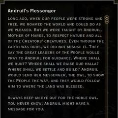 Andruil's Messenger Landmark Text