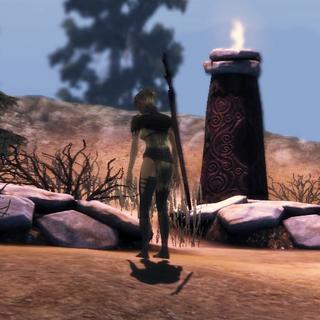 Velanna bei den Gräbern ihrer Klangefährten