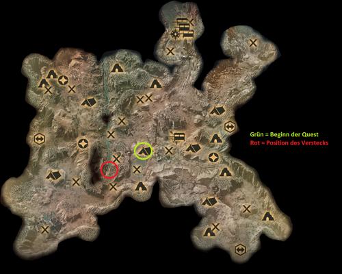 Die Hinterlande - Karte zu einem Wasserfall