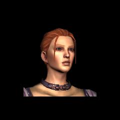 Gesicht der jungen Leliana in