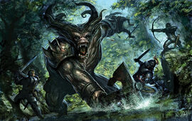 Dragon Age Ogre Fight by tycarey