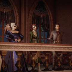 Maxwell and Empress Celene introducing Briala as the new Marquis of the Dales
