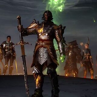 Maxwell in the <i>Hero of Thedas</i> trailer