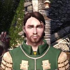 A younger Aedan as his father's seneschal