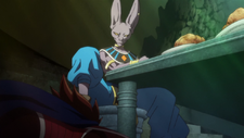 Beerus Using King Vegeta as a Footstool