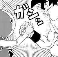 Gokou Shaking Hands with Zenoh