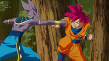 Super Saiyan God Son Goku vs Beerus