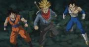 Goku, Vegeta and Trunks