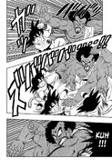 Goku and King Chappa battle