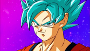 Goku en su fase Dios Azul