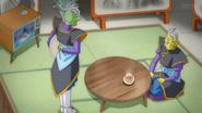 Gowas y Zamas ven luchar a Goku