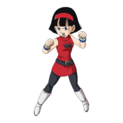 SDBH World Mission Character Sticker Videl 4 (Mega Rarity Sticker Render - BoG-DBS Red Devil Dress)