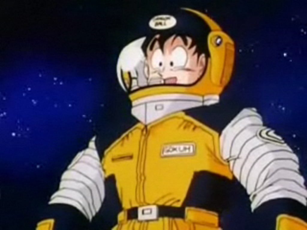 Image result for goku space suit