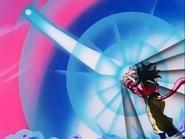 Goku lanzado el Kamehameha x10 Ep 39 GT