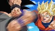 SSJ Goku vs Goku Black