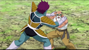 DXRD Caption of Master Roshi talks to Krillin while facing a Frieza soldier in Dragon Ball Super episode 21