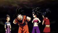 Goku conoce a Saiyan del Universo 6