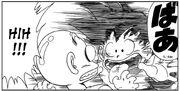 Goku surprises Krillin