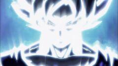 Migatte no Goku 'i' aura blanca y negra