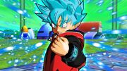 SDBH World Mission Ch5, Sub Ch4 Final Chapter Super Saiyan Blue Beat (Earthling-Saiyan hybrid SSGSS Beat)