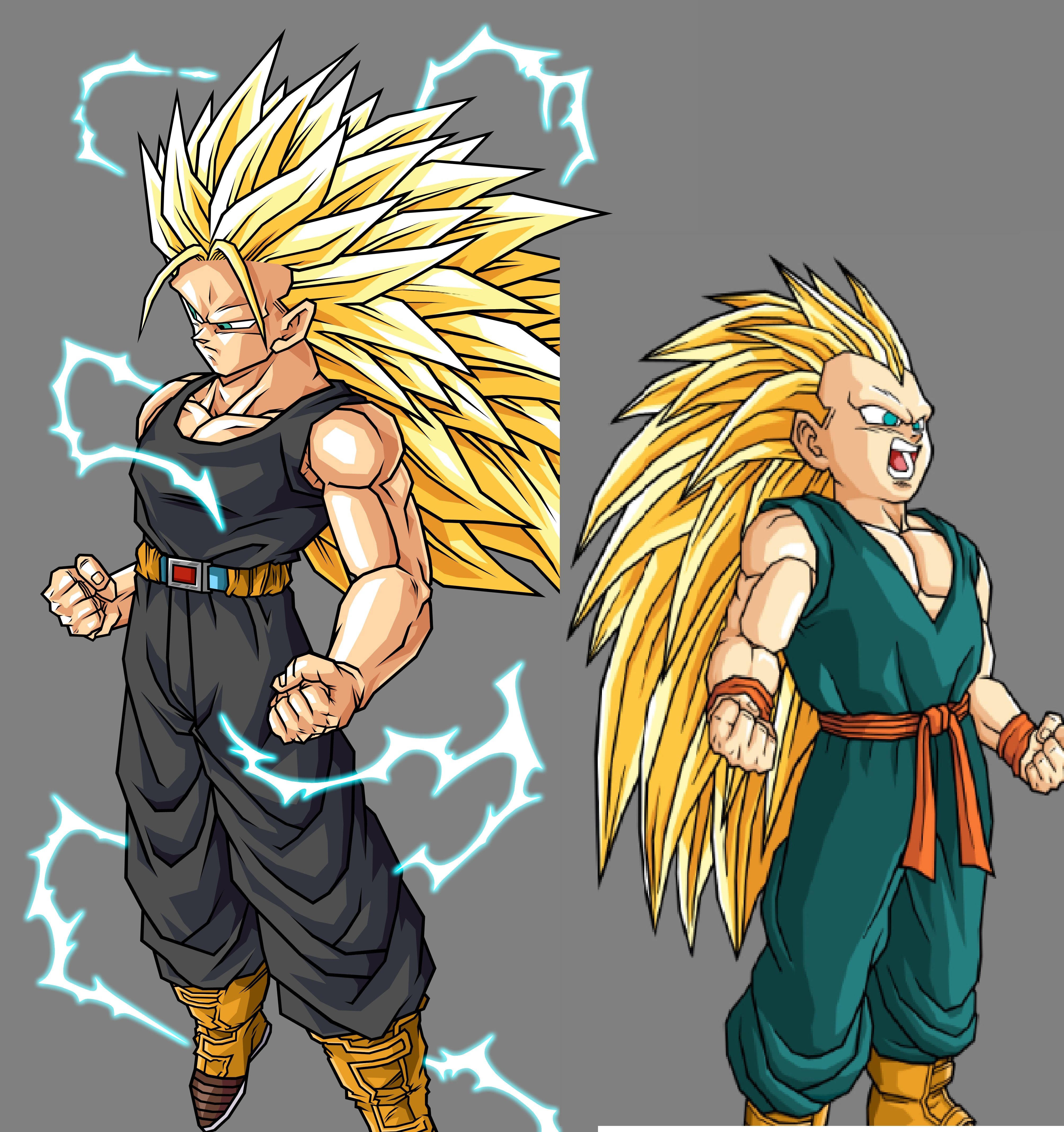 image trunks and future trunks ssj3 jpg dragon ball wiki