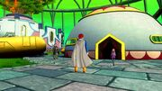 DBXV Future Trunks, Future Warrior, & Supreme Kai of Time in front of Supreme Kai's House (Time Nest) 11-21-46