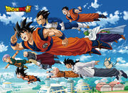 Dragon-ball-super-wall-scroll-z-fighters-flying-key-art-long