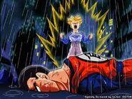 Gohan muerto por los androides mientras trunks ssj despierta