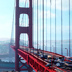 Golden Gate Bridge di San Francisco.