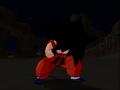 BT3Kid Goku transforms