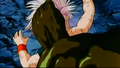 Bio Broly nearly kills Trunks