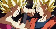 Caulifla contro Son Goku
