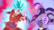 Goku SSBlue Kaioken contro Hit