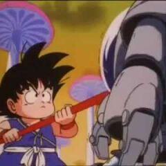 Son Goku si confronta con una Pilaf Machine di prima generazione.