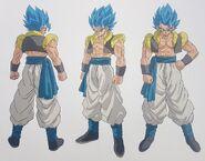 Gogeta Azul Boceto