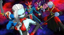 SDBH World Mission CAA Super Ability Subspace Summon X Warriors of Darkness Assemble (Dark Empire's Warriors of Darkness - Dark Demoness Towa, Xeno Dabura, Base Mira, Demon God Demigra, & Great Devilman)