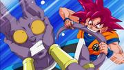 SSG Goku Bites Beerus