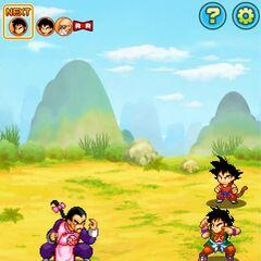 Goku, Yamcha e Muten si scontrano con Tao Pai Pai.
