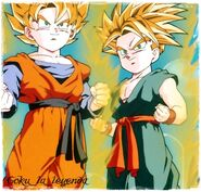 Goten y trunks super sayan